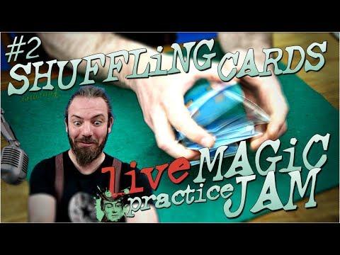 SHUFFLE CARDS LiKE a PRO - #2 card magic LiVE PRACTiCE SESSiON JAM