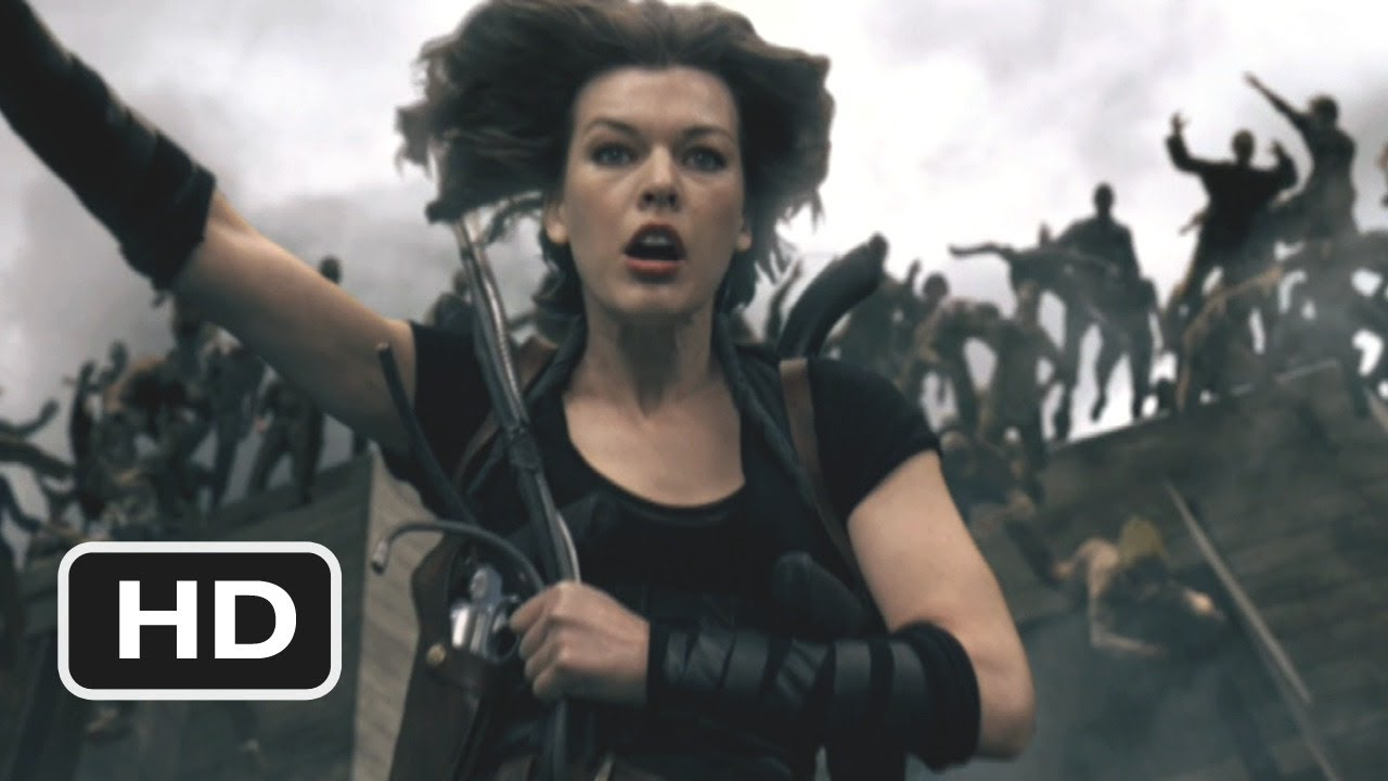 Resident Evil Afterlife 2 Movie Clip The Undead Go Over The Edge 2010 Hd Youtube