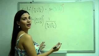 Derivada de la potencia del logaritmo de un cociente_ Regla de la cadena