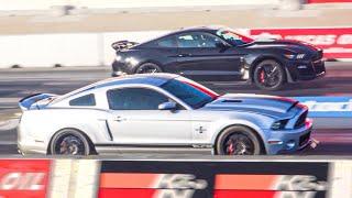 2020 SHELBY GT500 DRAG RACES 2014 GT500 SUPER SNAKE! 1/4 MILE PASSES
