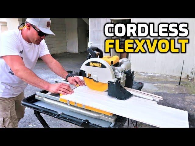 dewalt cordless flexvolt 10 wet tile