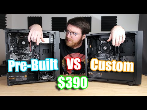 Cheapest Amazon 'Gaming' Pre-Built PC versus Custom-Built PC (2020)