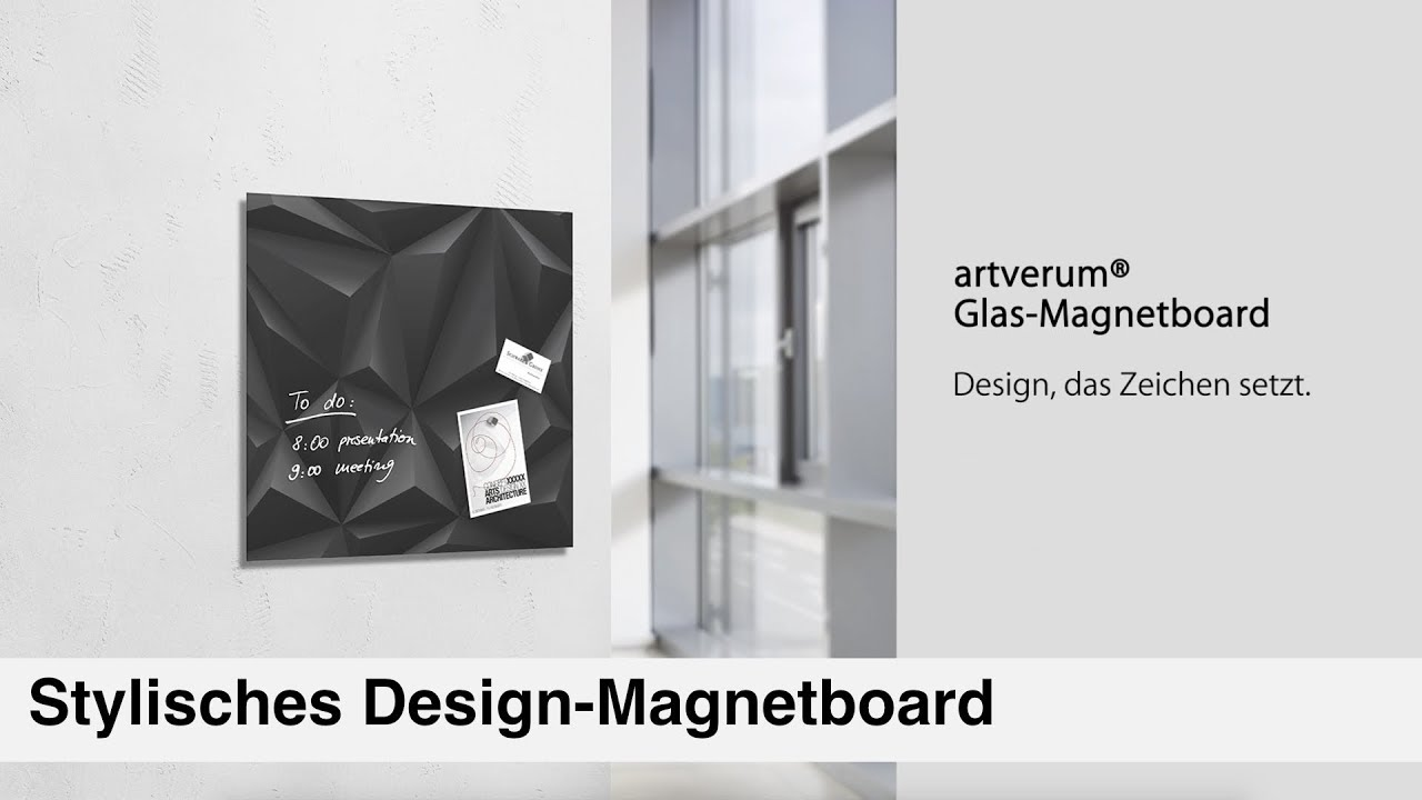 edles design sigel glas magnettafel youtube. Black Bedroom Furniture Sets. Home Design Ideas