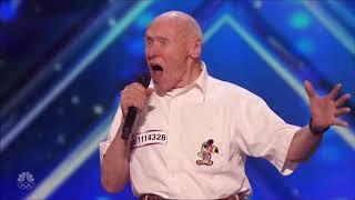 82 year old man sings rockstar