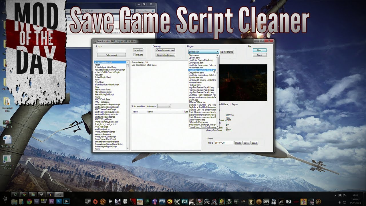 Skyrim Mod of the Day - Episode 260: Save Game Script Cleaner