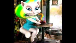 Милая игра Кошка Анжела в кафе, для детей