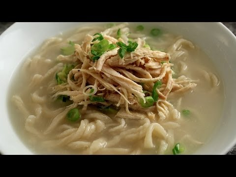 Korean Chicken Noodle Soup from Scratch (Kalguksu: 칼국수)