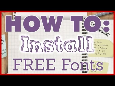 Windows 7 {How to Download Fonts / Decoder / 2016 / November}