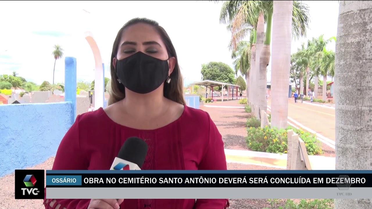 Obra no Cemitério Santo Antônio será concluída em Dezembro