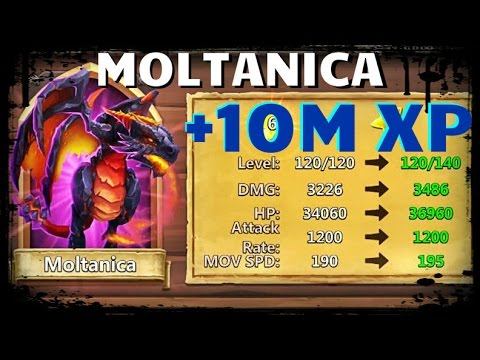 Castle Clash: Giving Dragon 10 MILLION Experience - Moltanica