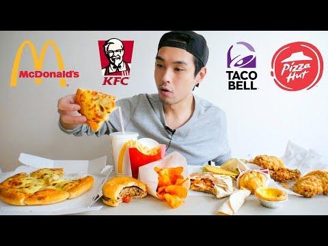 fast-food-feast-mukbang!---kfc,-taco-bell,-mcdonald's,-&-pizza-hut