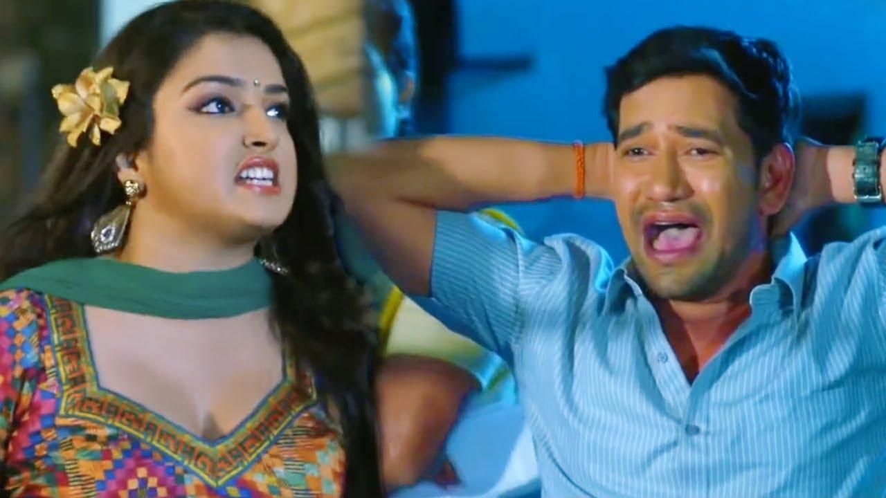 AmrapaliDubey || DineshLalYadav Full Comedy bhojpuri Scene || wwr