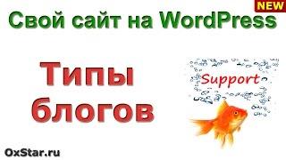 ТИПЫ БЛОГОВ - Какие бывают блоги? ТИПЫ БЛОГОВ - Основы сайтостроения