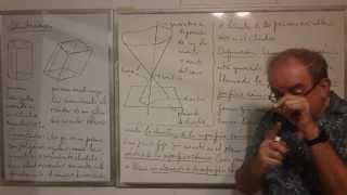 Geometría - Lección 58 - B (prisma inscrito en y circunscrito a un cilindro; superficies cónicas)