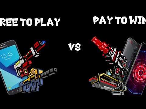 Free To Play Noob VS Pay To Win Pro! Pixel Gun 3d.