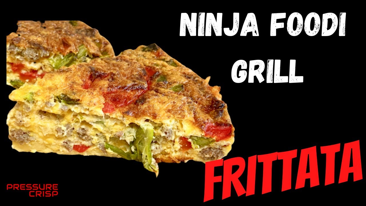 Ninja Foodi Grill - Air Fryer - Frittata - Roasted Peppers, Roasted Asparagus, Sausage and Cheese!