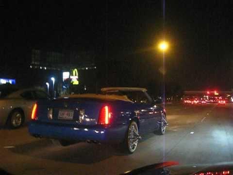 Twin S 2003 Convertible Cadillac Deville Sedan Blue Line