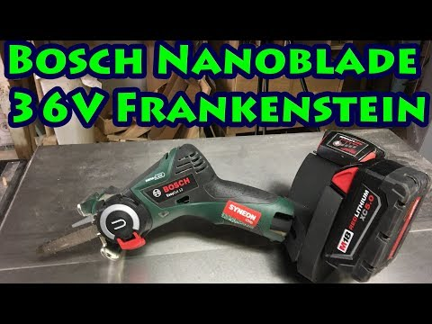 12V  Bosch Nanoblade Pumped Up To 36 Volts!