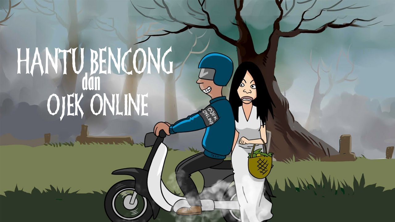 Kartun Horor Hantu Bencong Dan Ojek Line