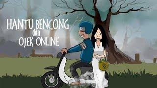 Kartun Horor - Hantu Bencong dan Ojek Online