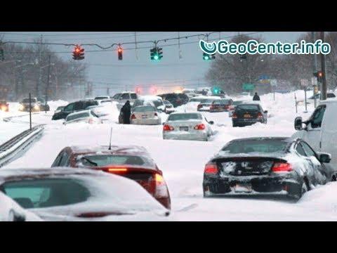 """США. Снежный шторм """"Джексон"""" январь 2018 г. Что произошло в мире.  Что произошло на нашей Планете"""