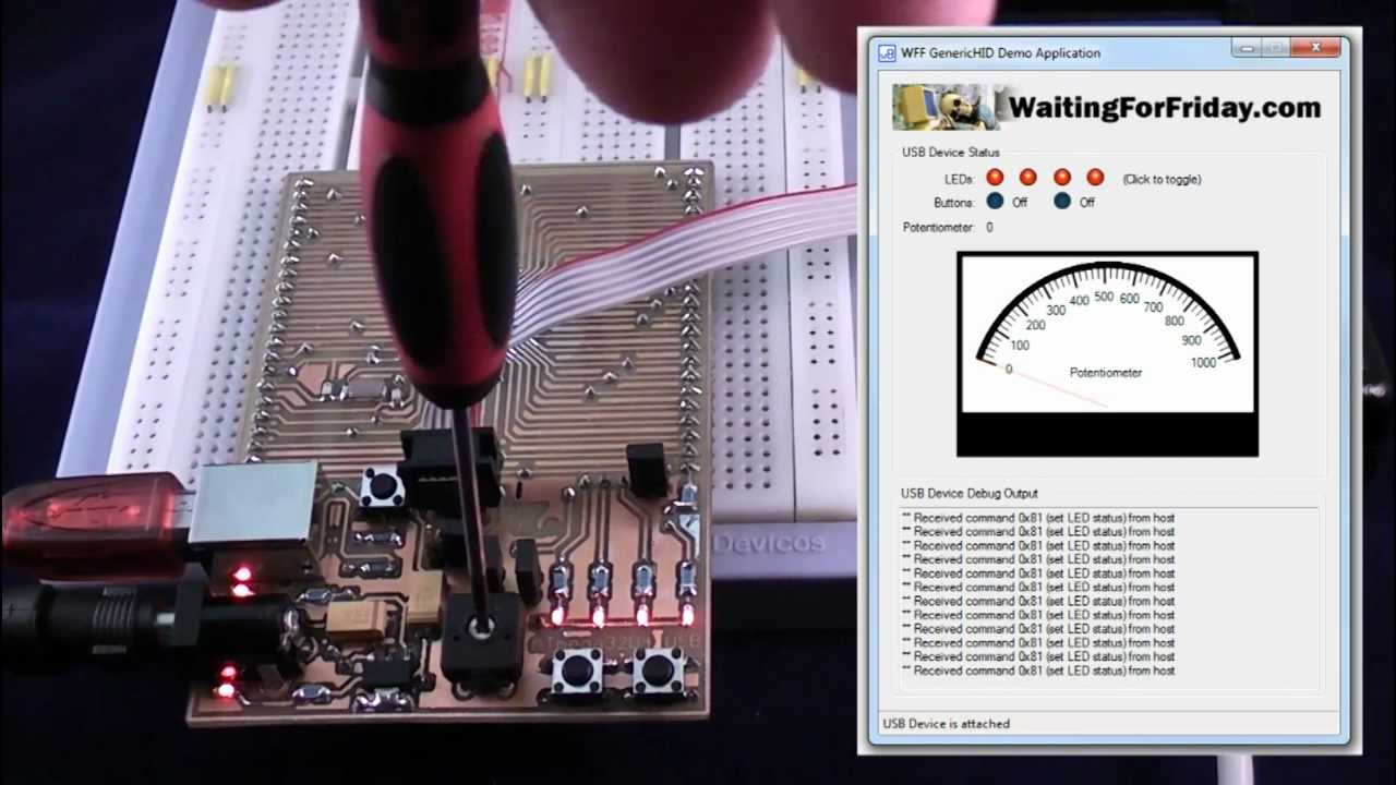 USB Generic HID Open Source Framework for Atmel AVR and Windows