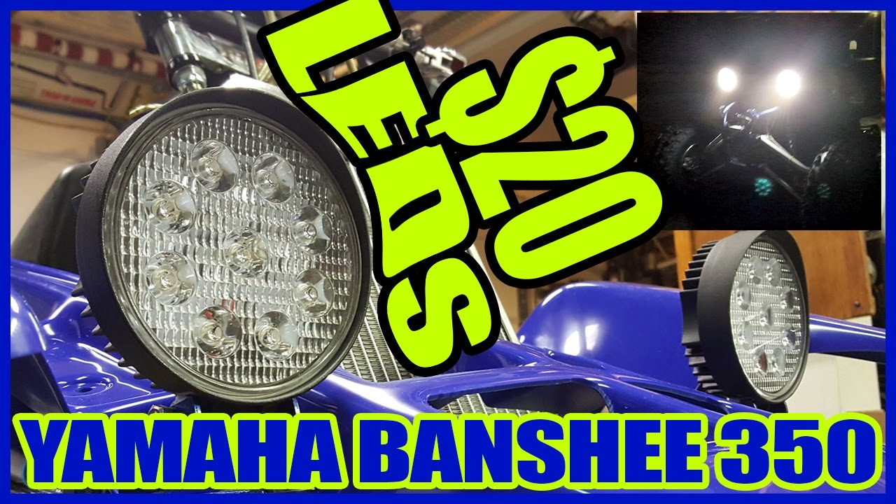 yamaha banshee headlight wiring diagram 2007 f150 a c led conversion only 20 350 youtube