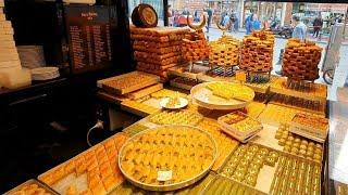 حلويات حافظ مصطفى الذ حلويات بالمكسرات وبقلاوة ومبرومة باسطنبول Street Food Istanbul