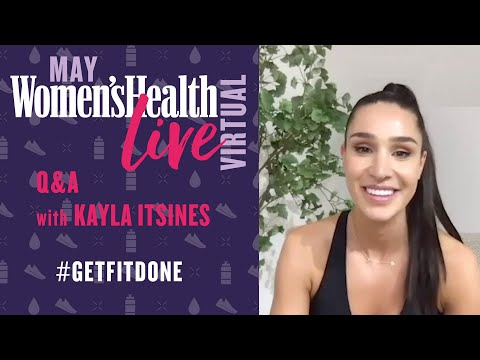 Kayla Itsines Interview Talking At-Home Fitness, Food & Workouts | Women's Health Live Virtual Q&A