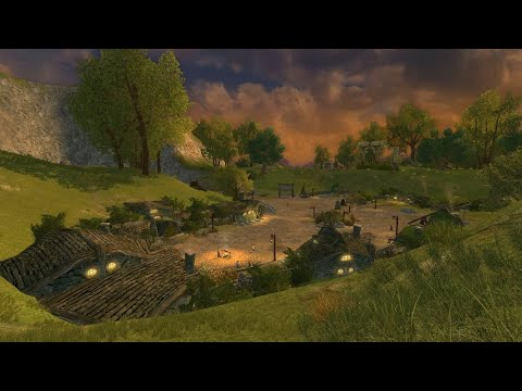 LOTRO - The Shire Ambience - Scary - Stormy - Lord Of The Rings Online