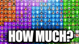 guess the cost of ALL items in Fortnite - HINT: You Prob Wont Guess it