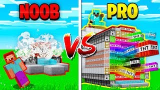 MINECRAFT NOOB vs PRO TNT WARS! (MCPE)