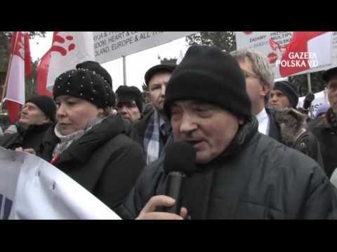 Tłumy manifestowały w obronie telewizji Trwam
