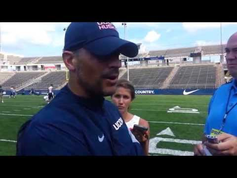 UConn Football Coach Bob Diaco, More From Scrimmage, Aug. 15, 2015