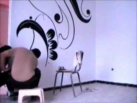 dessin et peinture sur le mur 4 youtube. Black Bedroom Furniture Sets. Home Design Ideas