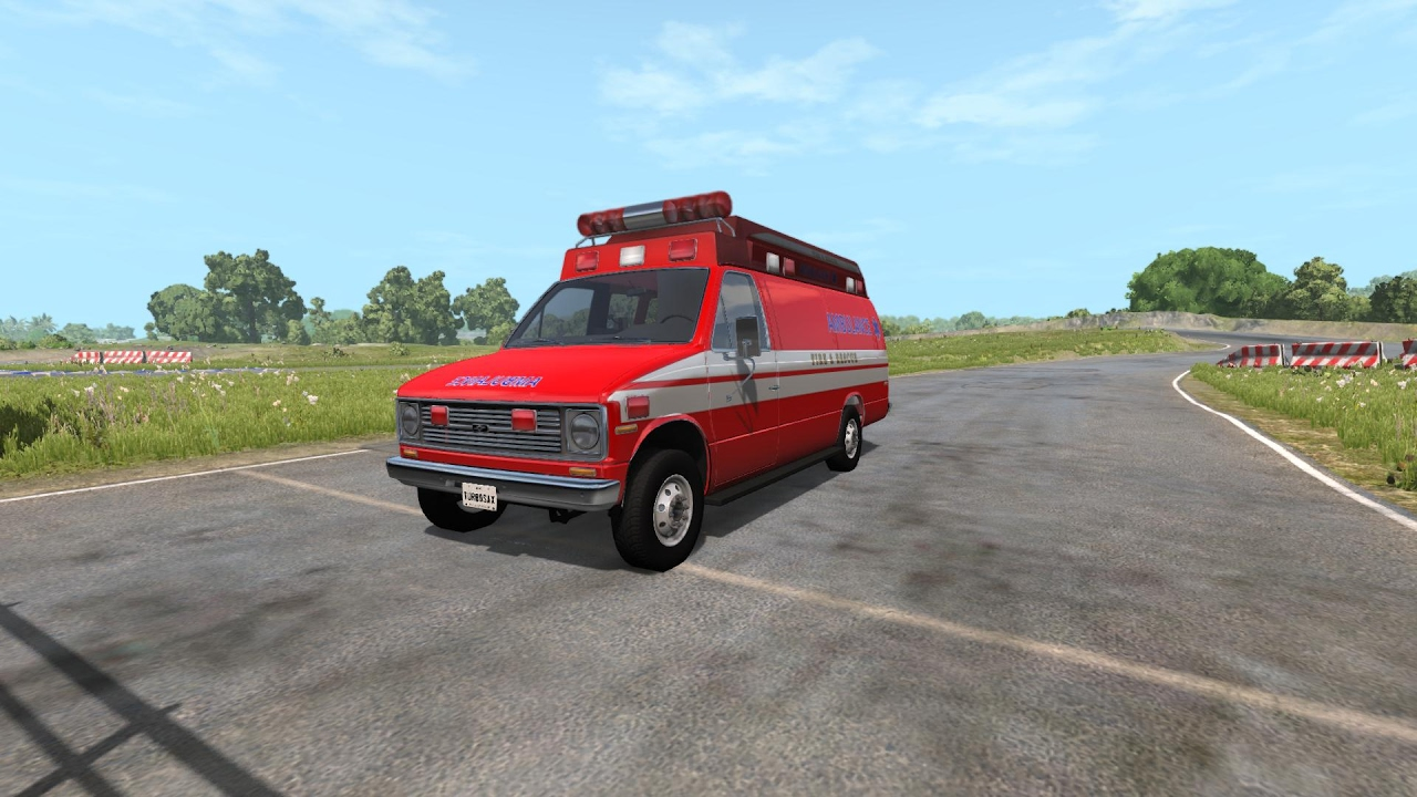 2017 Ford Econoline Van >> BeamNG.drive - Tough Car Challenge - Gavril H Series Type 2 Ambulance - YouTube