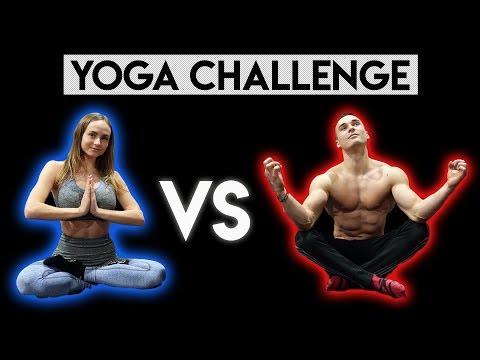 YOGA CHALLENGE 2 - Pojedynek z DZIEWCZYNĄ *beka* thumbnail