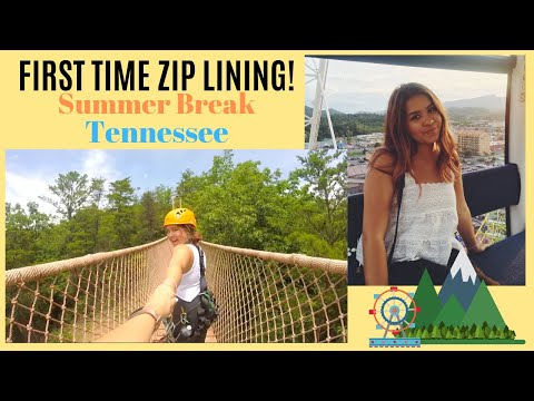 FIRST TIME ZIPLINING (Tennessee part 1)