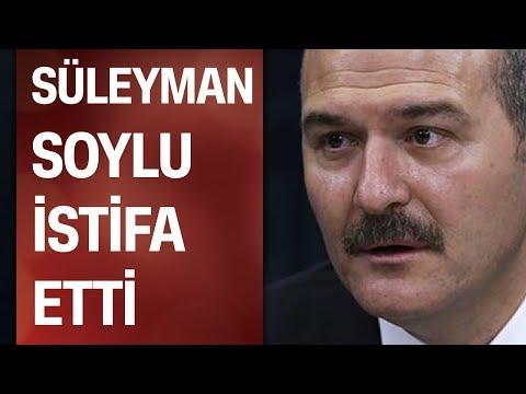 Süleyman Soylu istifa etti: İçişleri Bakanlığı görevimden ayrılıyorum