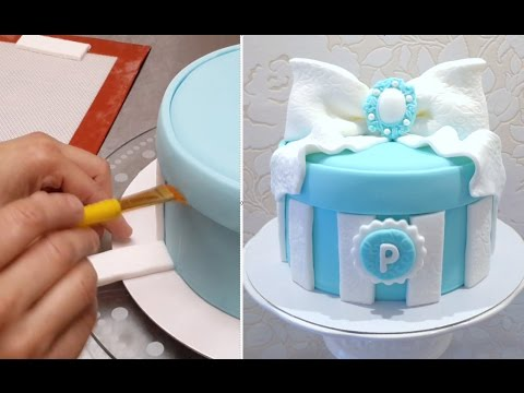 GIFT BOX CAKE - Birthday Cake Ideas by Cakes StepbyStep