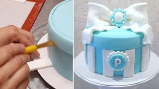 GIFT BOX CAKE - Birthday Cake Ideas.Tutorial by CakesStepbyStep