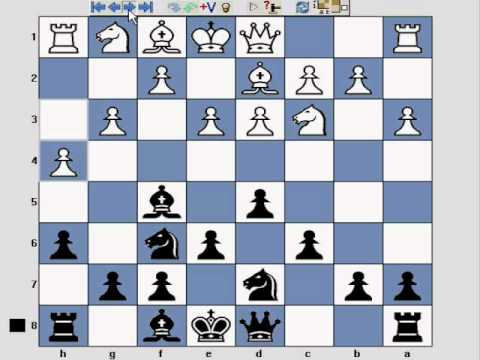 Chess opening London System part 6 - as Black with colours reversed - colors reverse - YouTube