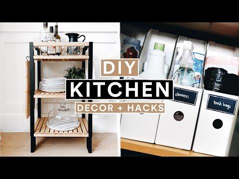 DIY IKEA KITCHEN DECOR + ORGANIZATION HACKS – Modern Farmhouse // Lone Fox