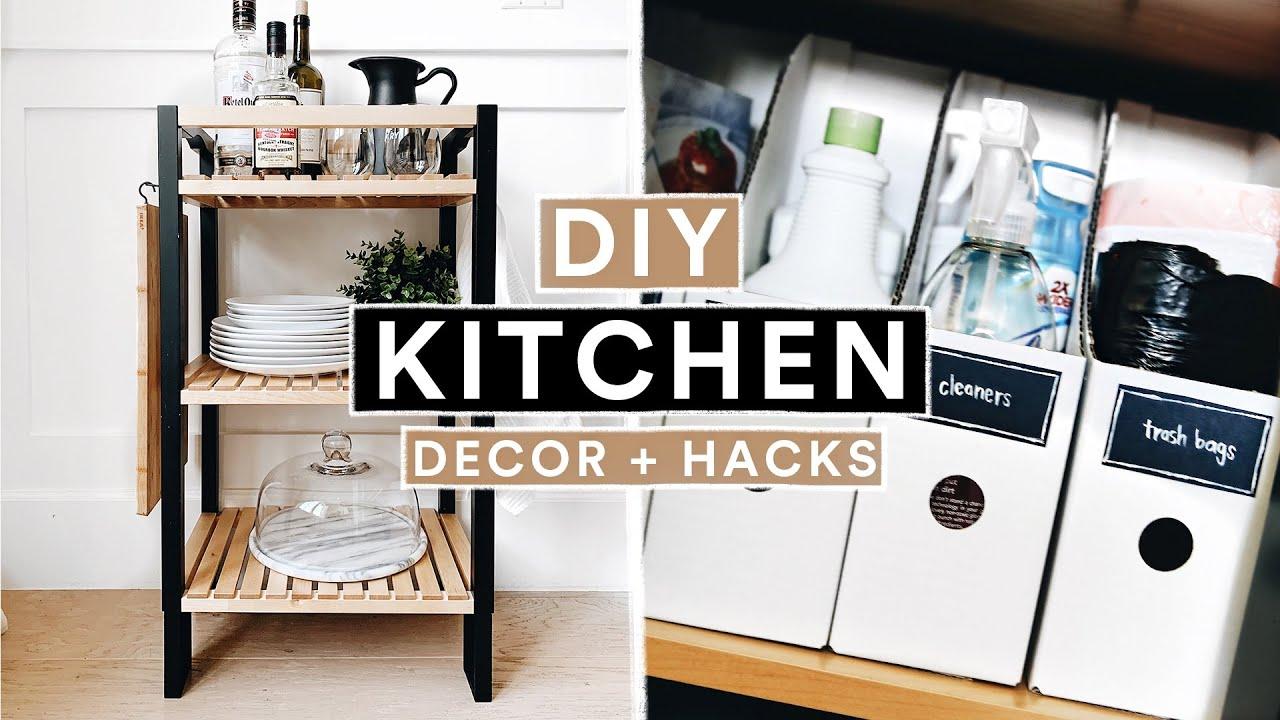 DIY IKEA KITCHEN DECOR + ORGANIZATION HACKS - Modern Farmhouse // Lone Fox