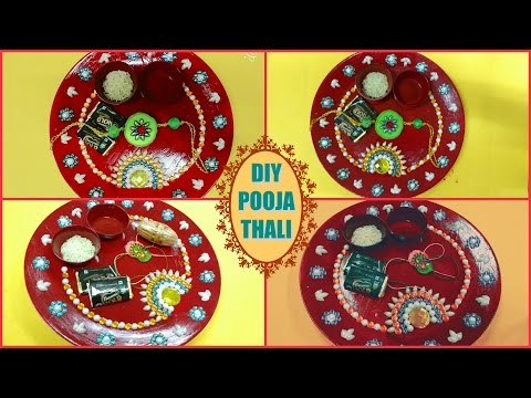 Puja thali wikipedia photos and videos for Aarti thali decoration with rice