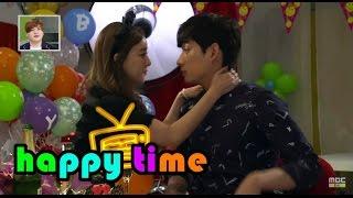 happy time 해피타임 ng special go u ri yoon park kiss scene 고우리 너무 저돌적인 키스 ng 20150524