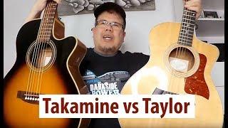 taylor 214ce vs takamine eg260c acoustic guitars comparison