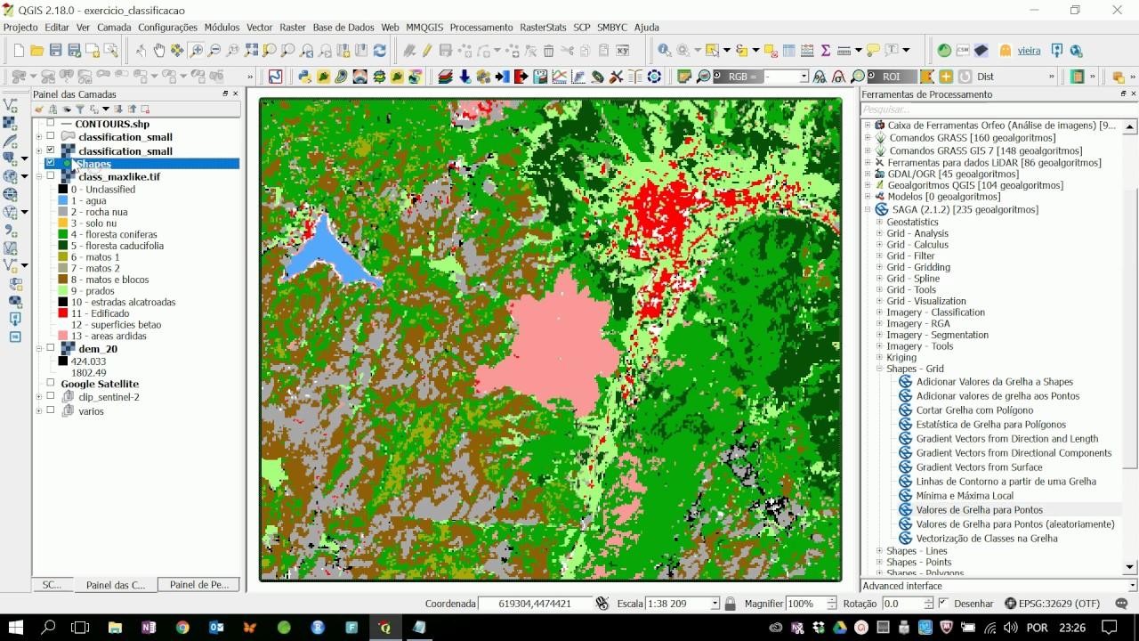 Extrair dados de rasters em pontos de referência no QGIS