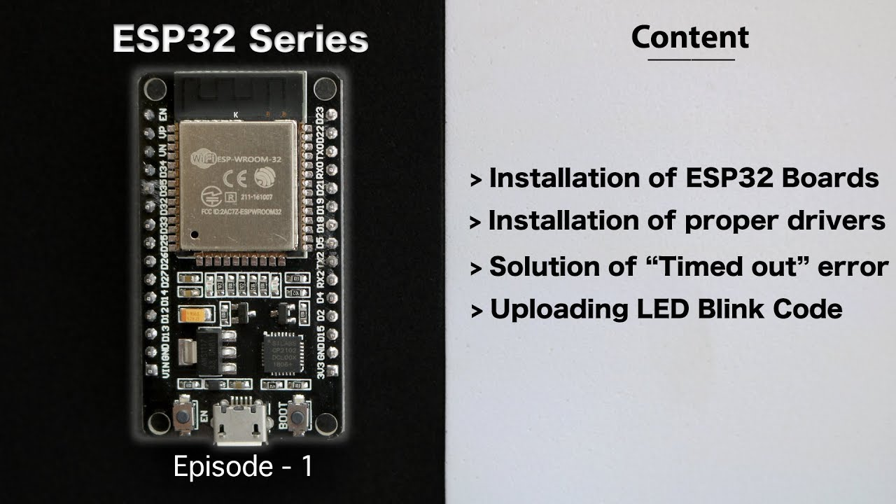 [E-1] Getting Started with ESP32 using Arduino IDE | Solution of Timed out  waiting for packet header