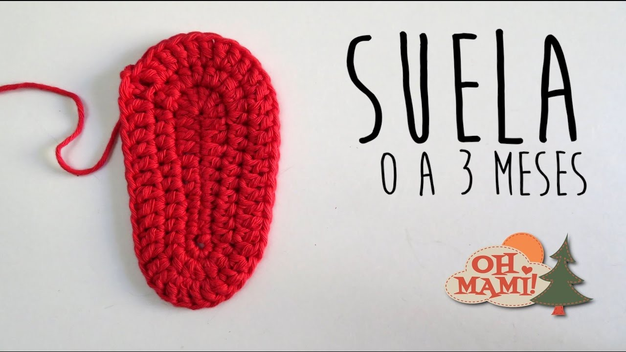 SUELA A CROCHET PARA BEBÉ DE 0 A 3 MESES - YouTube